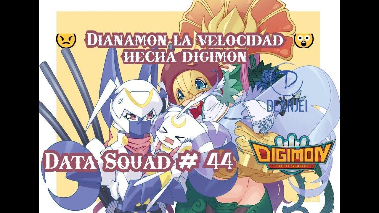 Dianamon un tipo data veloz 😄 |Digimon Data Squad #44