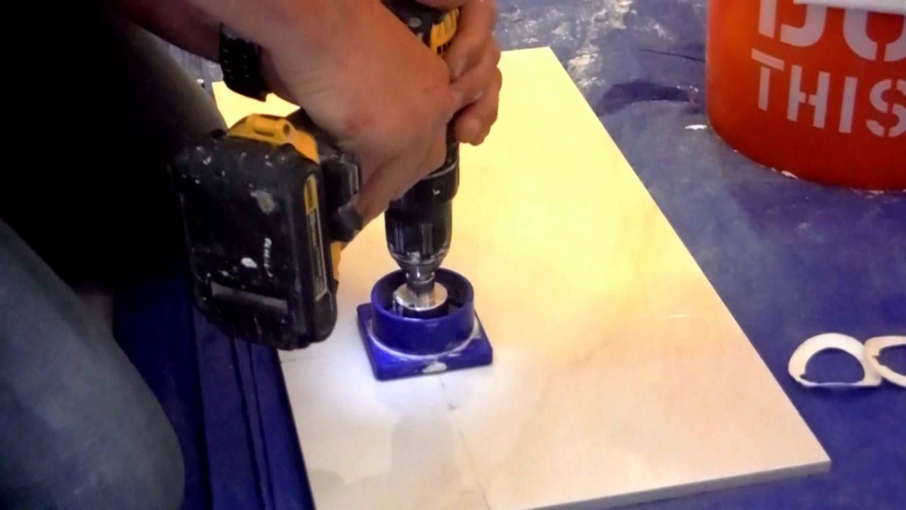 Easy way to cut a hole in tile wetdry diamond hole saw youtube easy way to cut a hole in tile wetdry diamond hole saw dailygadgetfo Choice Image