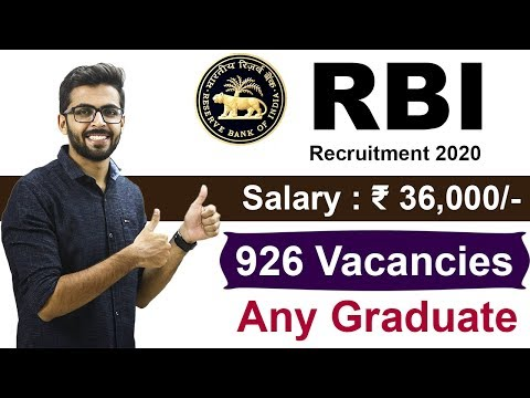 RBI Assistant Recruitment 2020 | Salary ₹36,000🔥 | Any Graduate | Latest Govt Job | RBI Recruitment
