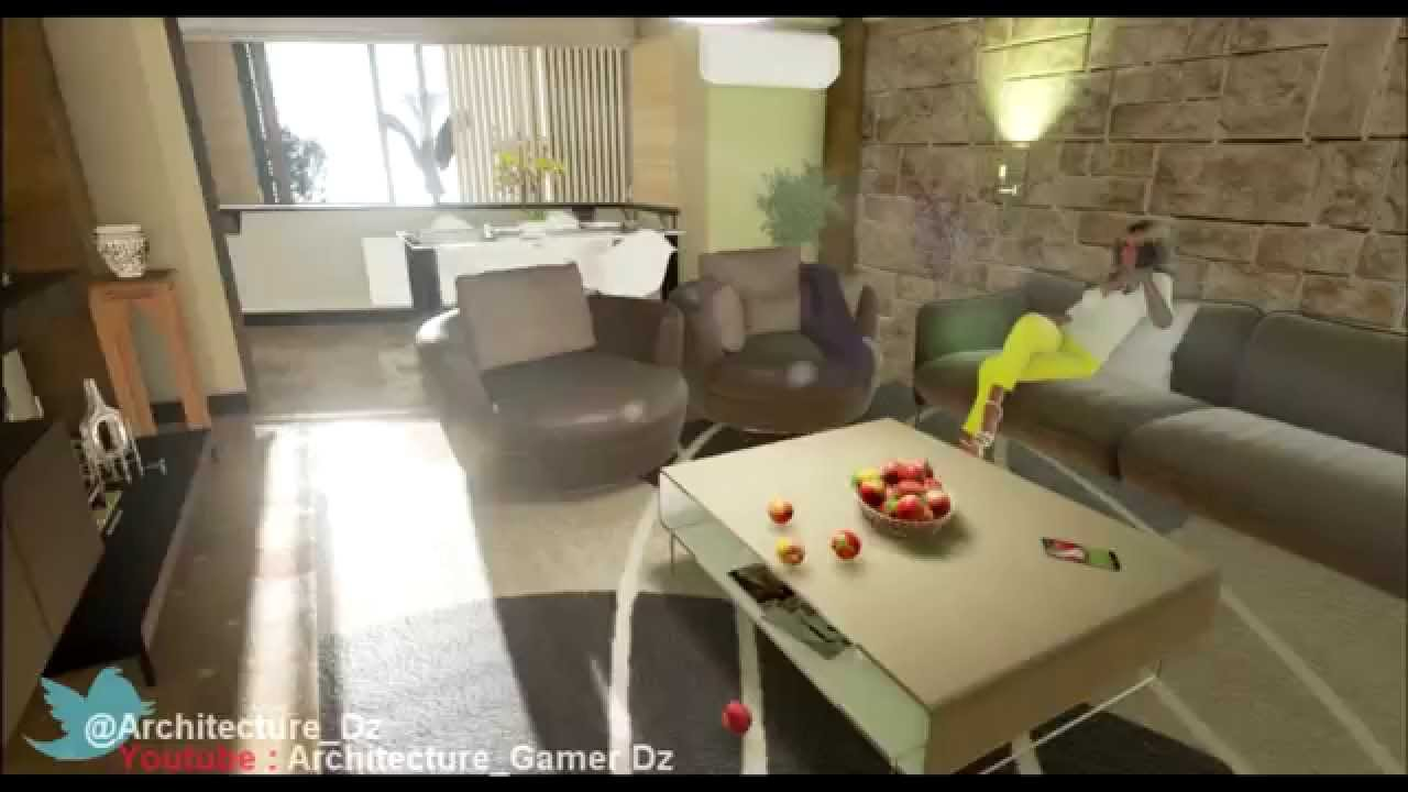 3d architecture aadl sebala f3 v3 algerie youtube for Deco appartement f4