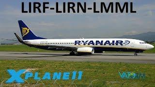 X-Plane 11 | NEW Malta Scenery!! | A319 B738 | VATSIM | Rome, Naples & Malta!!