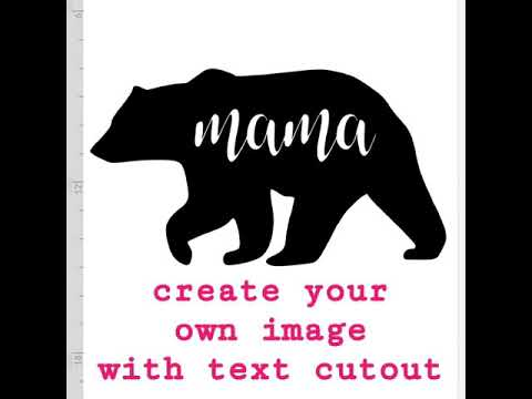 How To Create Your Own Image with Text Cutout