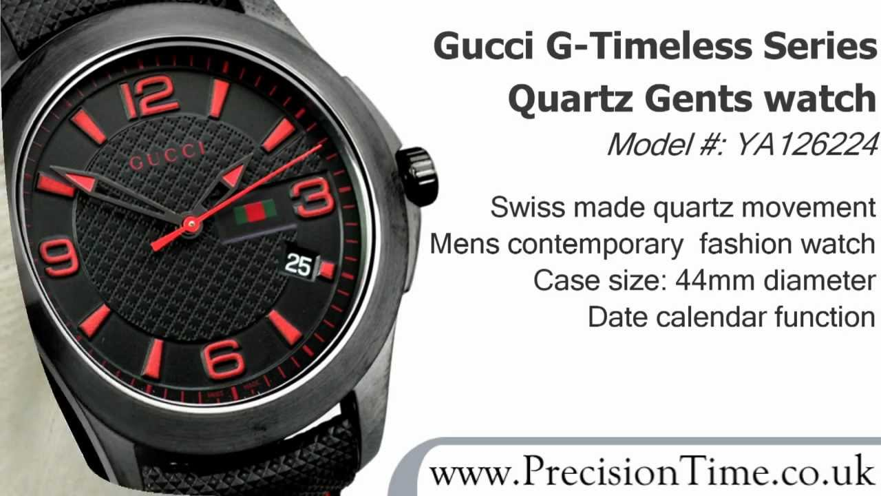 c7c2a423d Gucci YA126224 G-Timeless Large Gents Watch - YouTube