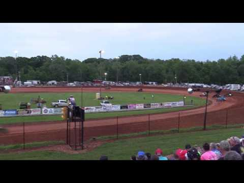 Bloomington Speedway   5.26.17   Non Wing Sprints   Josh Burton Memorial   Heat 4