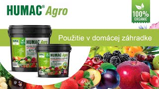 Aplikácia HUMAC Agro v záhradke