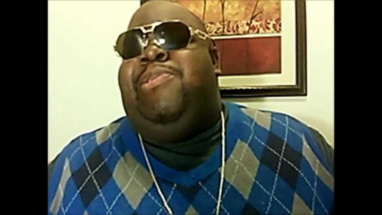 Fat Black Guy Eating Burger