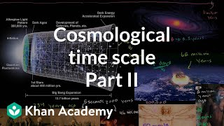 Cosmological time scale 2 | Scale of the universe | Cosmology & Astronomy | Khan Academy