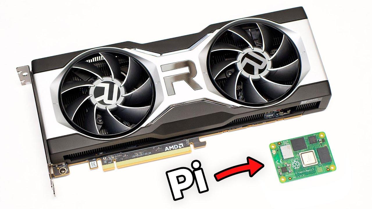 I plugged the AMD Radeon RX 6700 XT into a Raspberry Pi
