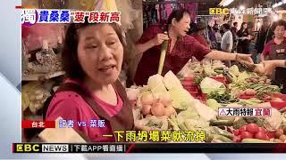 連日大雨菠菜1斤160元 民眾:買不下去