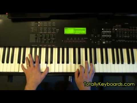 Every Teardrop Is A Waterfall Keyboard Piano Lesson Youtube