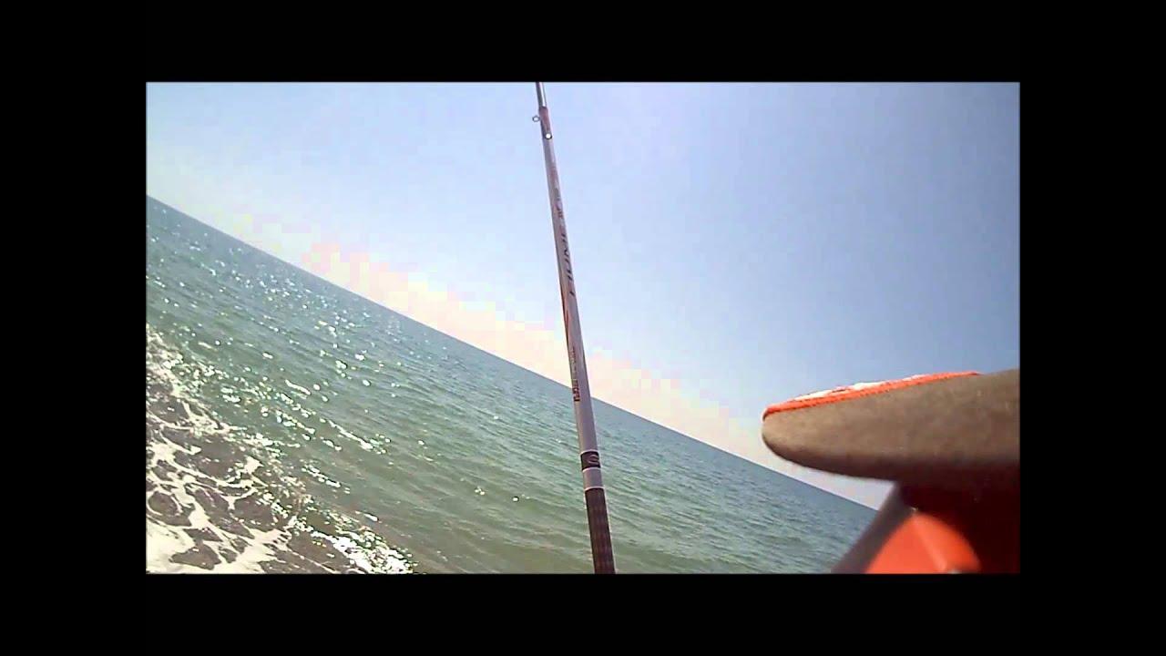 Spigola 5 kg pesca all 39 inglese dalla spiaggia youtube for Cucinare branzino 5 kg