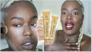 WTF?!? DERMACOL for DARK SKIN!??!? Dermacol review + Demo