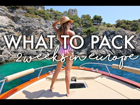 What to Pack for Vacation 2 Weeks in Europe + Vlog Gear Outfits Essentials