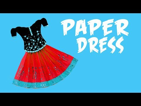 How to make an origami paper dress - 2 | Paper Folding Craft, Videos and Tutorials | PAPER CRAFTS