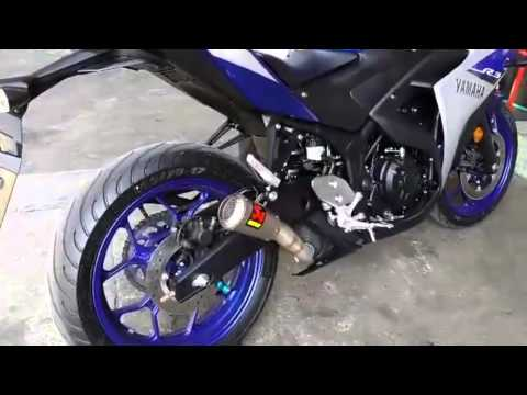 akrapovic slip on exhaust install on a 2015 yamaha yzf. Black Bedroom Furniture Sets. Home Design Ideas