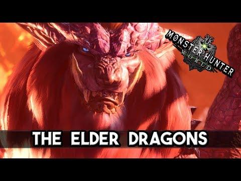 MH World 4K - The Elder Dragons have arrived the New World - ALL ELDER DRAGONS