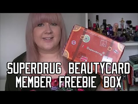 Superdrug Beautycard Member Freebie Box Youtube