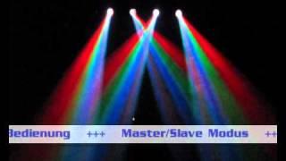 Showtec Dynamic LED DMX 4-fach Flower mit 256 RGBWY LEDs