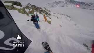 Shannan Yates | 1st Snowboard Women | FWT15 Chamonix-Mont-Blanc GoPro run