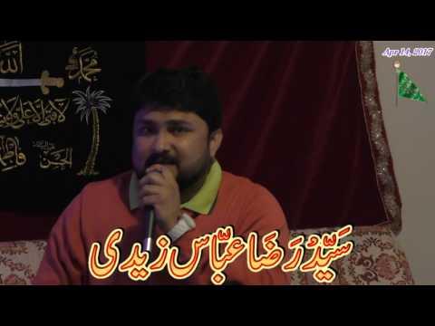 Syed Raza Abbas Zaidi @ Brother Zeeshan Jafri's Residence in Calgary, Canada