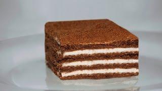 Шоколадный торт без выпечки  Нежность.  Просто и вкусно