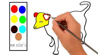 Learn Colors for Children with Colorful Dogs - Funny Cute Puppy Dog Animals Colors Video