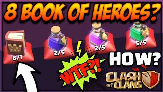 I GOT 8 BOOK OF HEROES! HOW? MAGIC ITEMS CLASH OF CLANS•FUTURE T18
