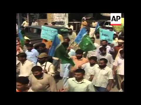 Anti-India demos in Pakistan over Kashmir; funeral of protester in Kashmir