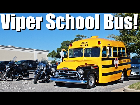 A Viper Powered School Bus?! Is This The Ultimate Engine Swap??