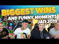 Biggest wins and funny moments of casinodaddy january 2019 (Casino Twitch & Youtube)