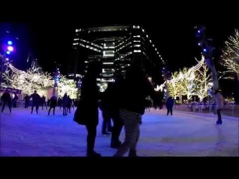 2015 Campus Martius, Detroit: Walking around and Skating