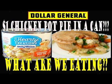 Dollar General ONE DOLLAR Pot Pie IN A CAN! - WHAT ARE WE EATING?? - The Wolfe Pit