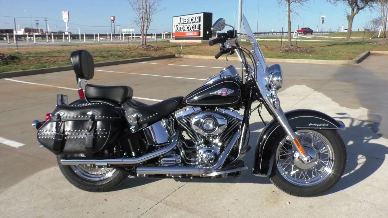 035543 2015 Harley Davidson Heritage Softail Classic FLSTC - Used motorcycles for sale - YouTube