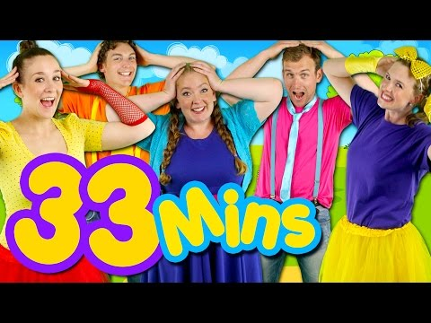 Head Shoulders Knees and Toes and MORE! Kids Nursery Rhymes Collection | 33 Minutes Compilation