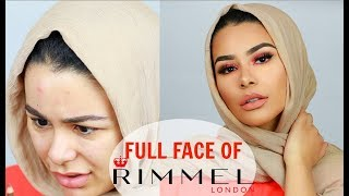 FULL FACE OF RIMMEL LONDON | DRUGSTORE ONE BRAND TUTORIAL AND FIRST IMPRESSION | HABIBA DA SILVA