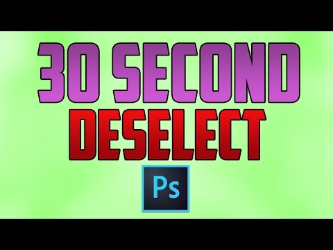 Photoshop CC : How To Deselect