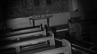 ghost hunt, old creepy chapel. white lady shadow seen
