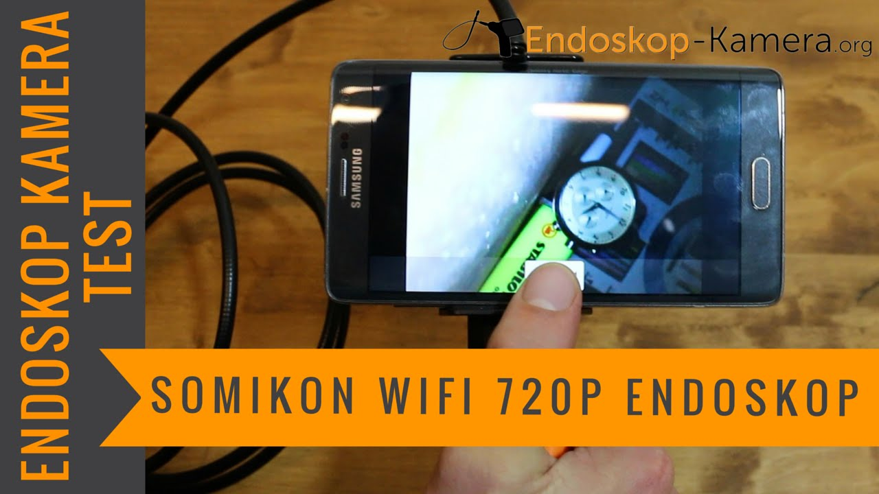 Somikon wifi 720p endoskop kamera test youtube