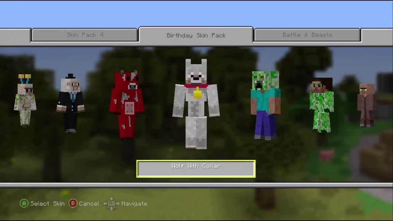 Birthday Skin Pack (free!!!) Minecraft Xbox 12 Edition