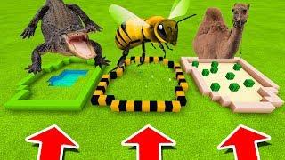 Minecraft PE : DO NOT CHOOSE THE WRONG FARM! (Alligator, Bumblebee & Camel)