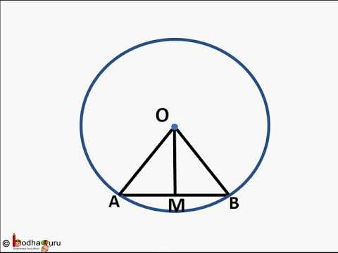 Maths Perpendicular To A Chord From Centre Theorem And Proof