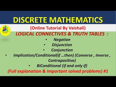 Discrete Mathematics  Basic Concepts  Introduction  Logic connectives truth table  GATE-CSIR NET-1 thumbnail