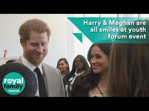 Smiles for Prince Harry and Meghan Markle at Commonwealth youth forum event