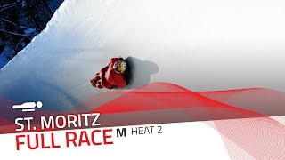 St. Moritz | BMW IBSF World Cup 2019/2020 - Men's Skeleton Heat 2 | IBSF Official