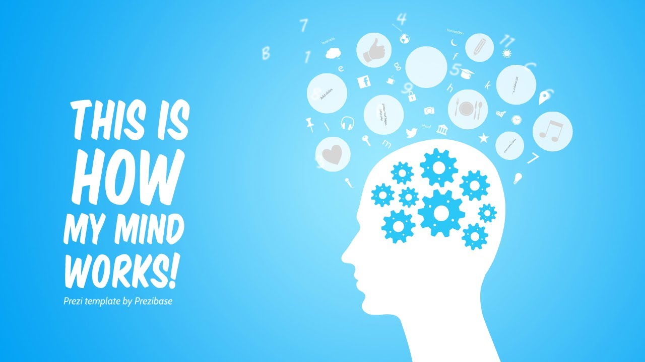 my mind - prezi template - youtube, Powerpoint templates