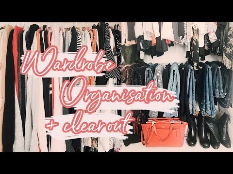 WARDROBE ORGANISATION + CLEAR OUT DAY | Hello October Vlogtober Day 17