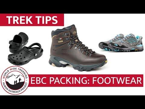 Everest Base Camp Gear List & Packing Part 8: Footwear   Trek Tips