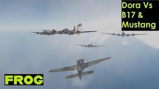 FW190D-9 Vs B17G & Mustang (DCS)