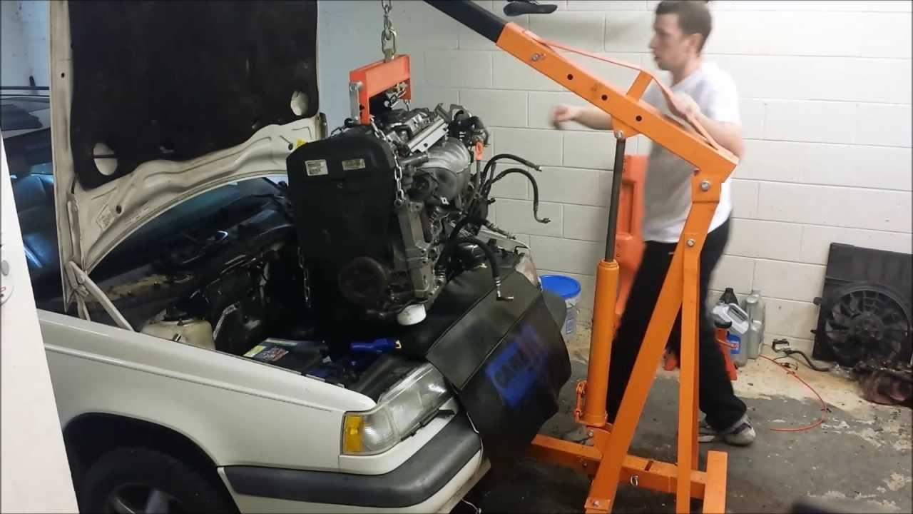 Volvo 850 1995 Engine and Transmission Install - YouTube