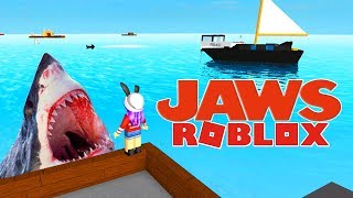 SURVIVE JAWS IN ROBLOX - France SHARK ATTACK!!! | JEUX RADIOJH